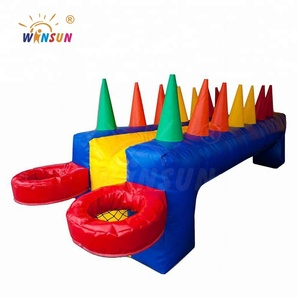 Exciting inflatable hot potato games, floating ball games, inflatable table air ball for carnival