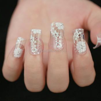 3d Lace Transparent Nail Art Rhinestone Stickers Diamond Diy Foils