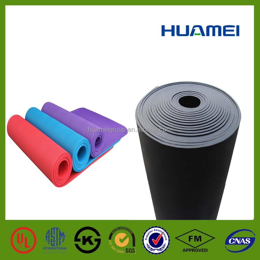 Huamei yoga mat rubber foam insulation material used in paving