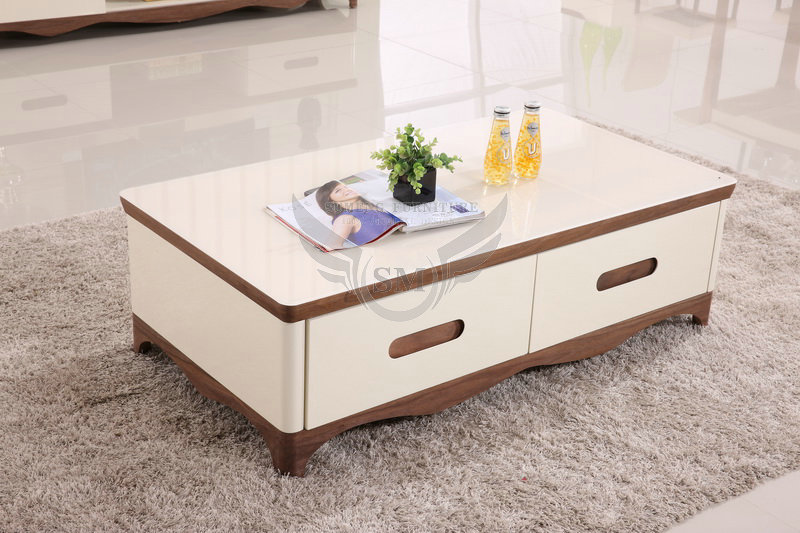 Modern Design Wooden Glass Top Center Table Designs Designs Of