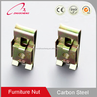 China Factory Customized Yellow zinc plated carbon steel auto spring clip speed J M4 cage nut for furniture