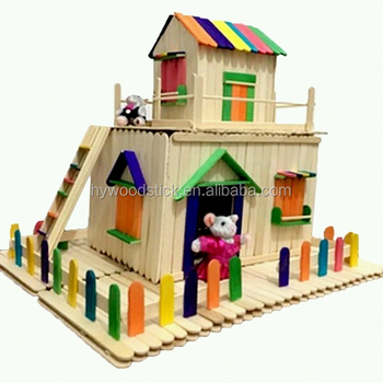Made in china creative pazzle house craft stick for kids - Rangement pour playmobil ...