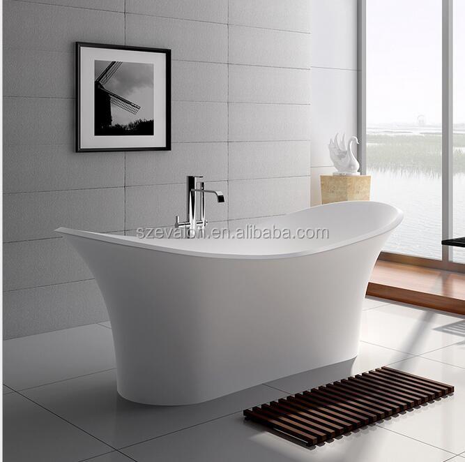 Stone Free Standing Bath Tub / Japanese Soaking Tub, Solid Surface Bathtub