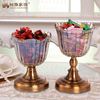 Unique Home Decor Pieces Round Gl Candy Tray For Holiday Decoration