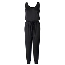 Groothandel Zomer vrouwen Casual Koord <span class=keywords><strong>Mouwloze</strong></span> Solid <span class=keywords><strong>Jumpsuit</strong></span>