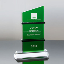 Ever Green Tree hotselling Crystal Awards Trophy with Customized Logo