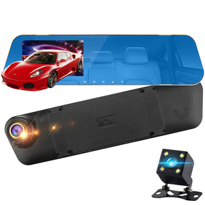 dash camera car dvr dual len rear view mirror auto dashcam recorder registratory car video full hd dash cam Vehicle two camera