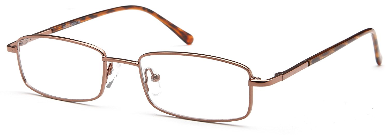 DALIX Mens Rectangular Prescription Eye Glasses Ready to Fill Black, Brown