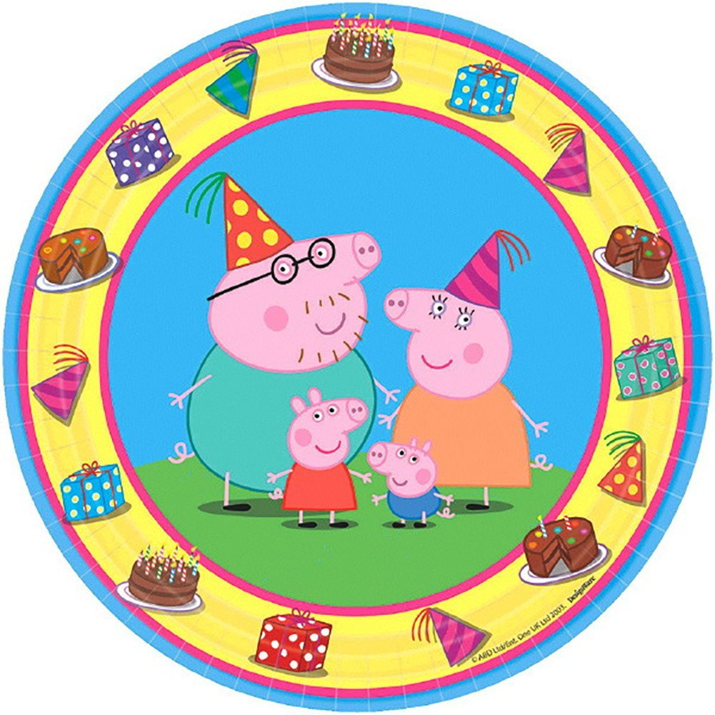 Peppa Pig Plate (S) 8ct [Contains 6 Manufacturer Retail Unit(s) Per Amazon Combined Package Sales Unit] - SKU# 541499