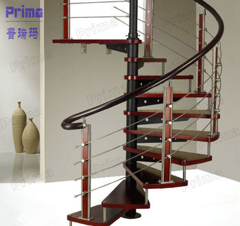 Fashion design steel newel post spiral staircase pr s31 for Spiral stair details