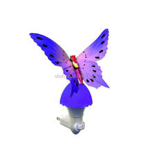Fiber Optic Color Changing Butterfly Night Lamp Wall Light