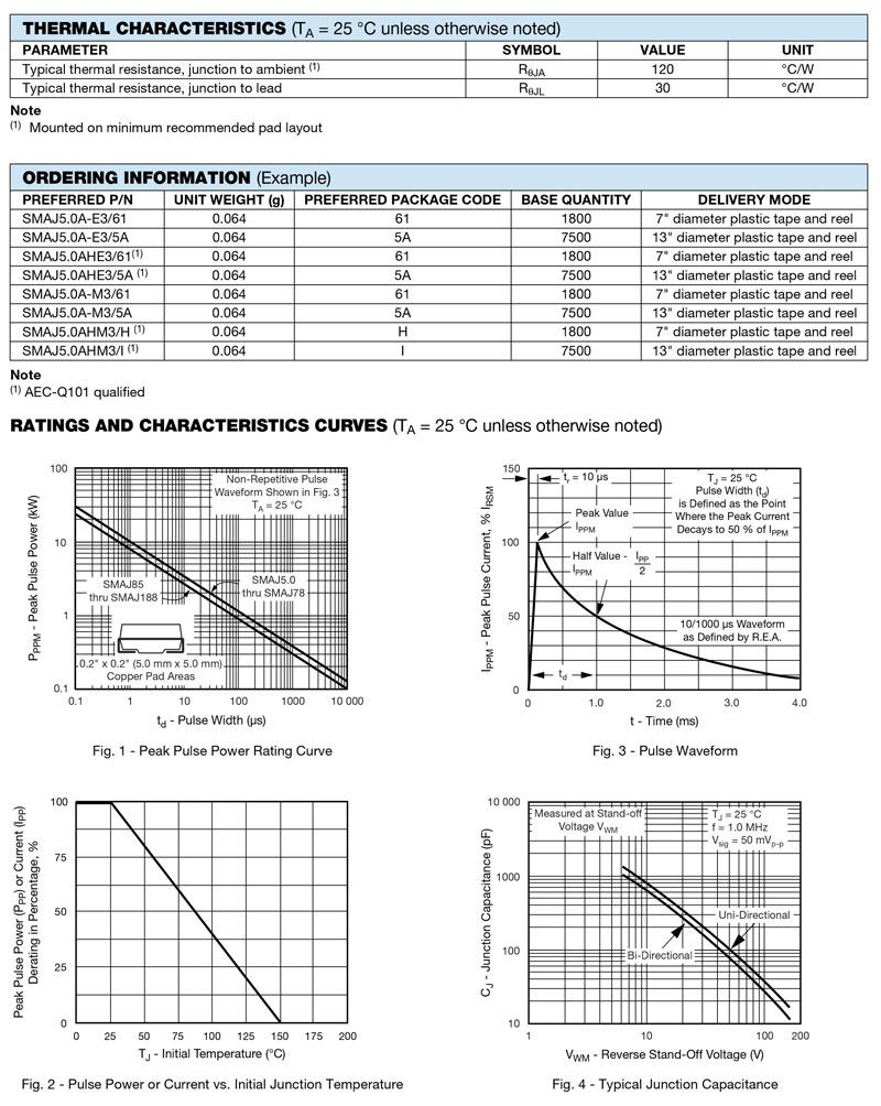 TVS Diodes 50 pieces Transient Voltage Suppressors 400W 12V Bidirect