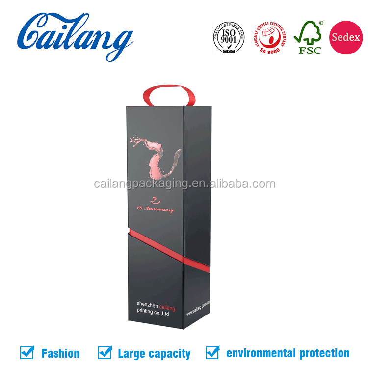 China Supplier Large Size Folding/collapsible White Cardboard empty gift Boxes Flat Pack With Logo Black Stamping Ribbon Closure