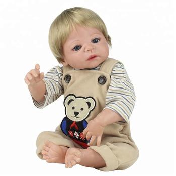 ee577d2ee5 Lifelike 22 polegada 55 cm Macio Vinil Silicone Bonecas Reborn Vivo Vinil  Boneca Menino Crianças Playmate