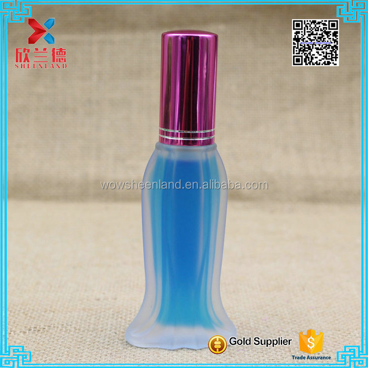 24ml Beautiful fish shape frosted glass perfume spray bottle women first gift choice