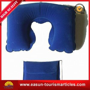 Factory direct sale inflatable neck pillow supplier low price inflight disposable pillow new adjustable neck travel pillow