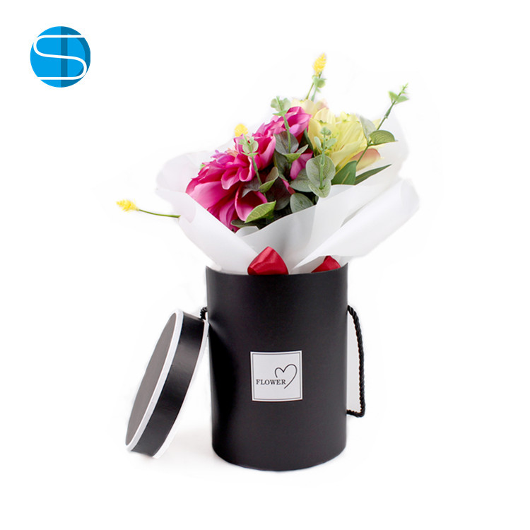 New Design Paper Round Flower Hat Box Mini Korean Florist Box