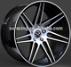 Aluminum 6061 T6 Alloy Car Wheel matt black machine rims