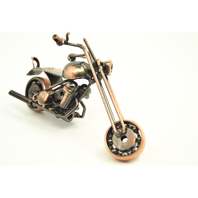 2015 Simple Modern Small Iron Motorcycle Model Retro Motorbike Models Home Decor Best Gifts for Friends