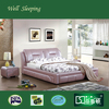 DS-720# 2017 pink color simple bedroom set, hot sale high end fancy divan bed design