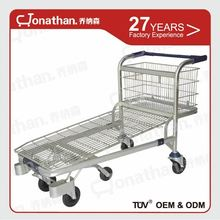 SXE-6 Supermarket use warehouse durable stell cargo trolleys