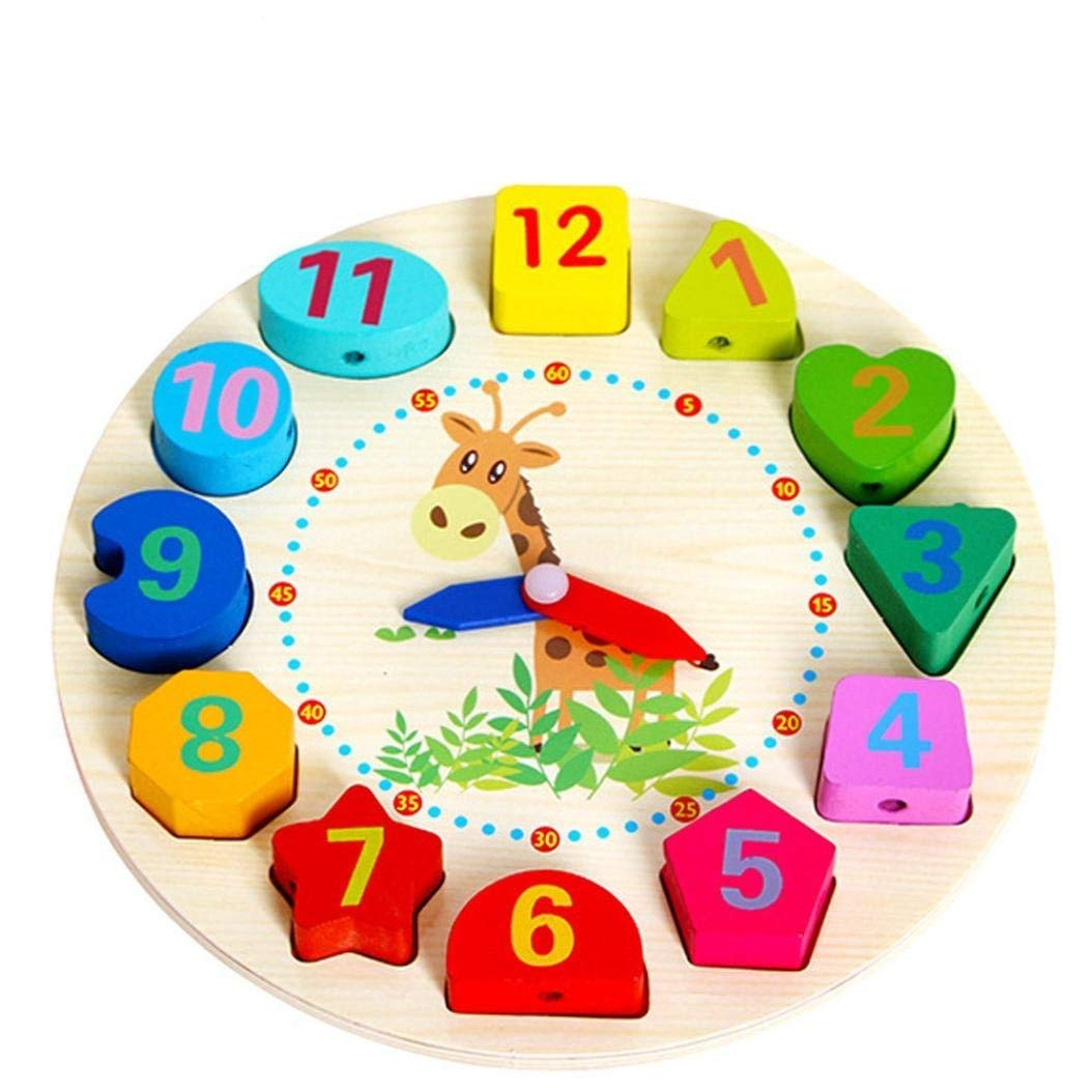 Drfoytg Clearance,Stress Reliever Toys Funny Squishy Toy Spongy Wooden Beaded Clock Decompression Educational Squeeze Kid School (Multicolor)