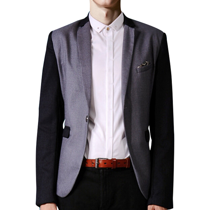 a5f5ee50c0ac Buy Men Dress Suits Fashion Brand 2015 New Arrival Patchwork Coats Casual  Slim Fit Blazers Jackets Outwear Men  39 s Clothing ZHY2019 in Cheap Price  on ...