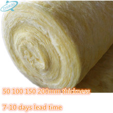 Interior wall sound insulation R11 glass wool roll, Thermal insulation Fiber Glass wool