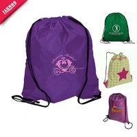 Popular Digital Printing 210D nylon polyester drawstring with zipPEr For Marketing