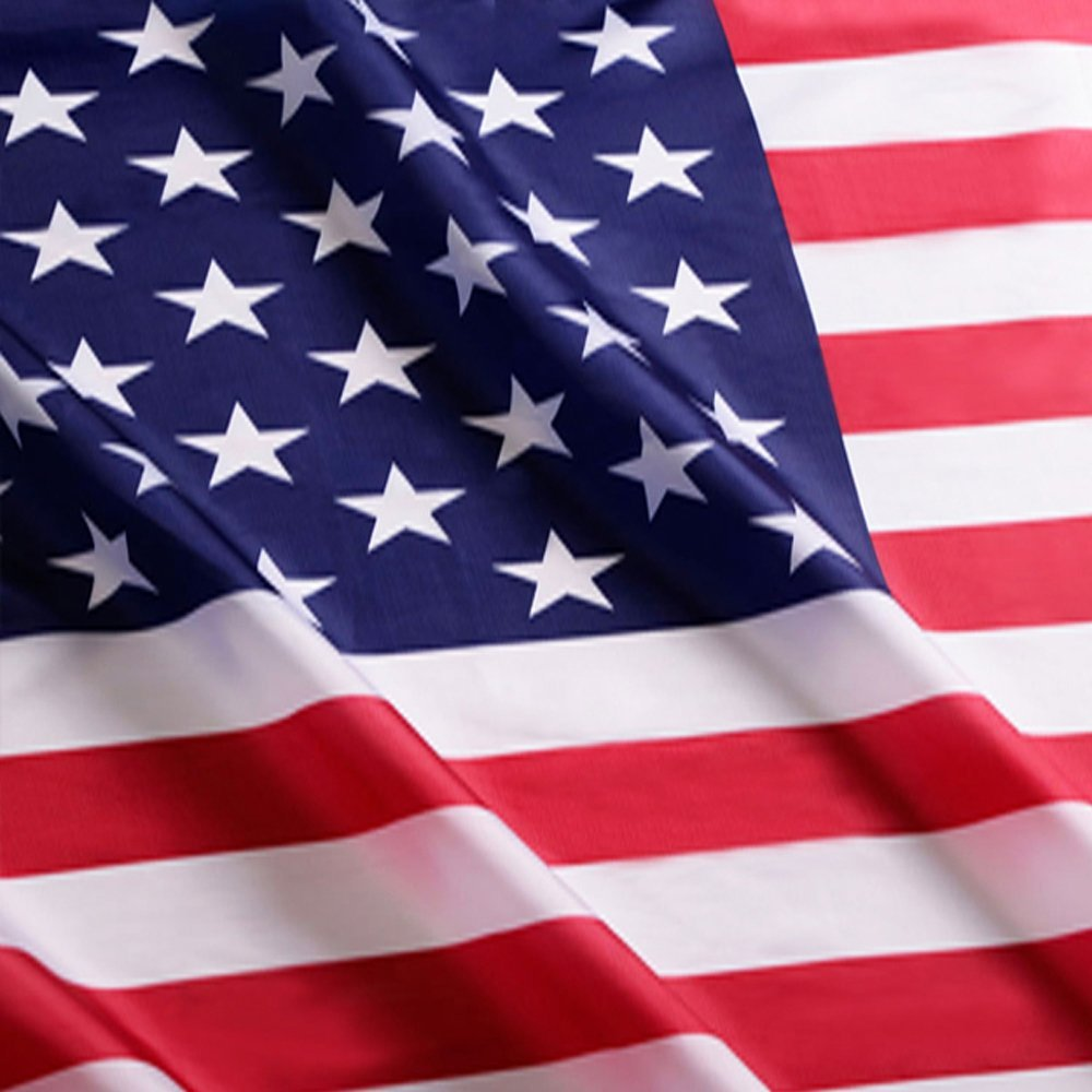 da8813d851bd Buy US Flag Factory 4  39 x6  39  US American Flag Outdoor SolarMax Nylon  Flag (Embroidered Stars  amp  Sewn Stripes) - Made in America - Look for   quot US ...