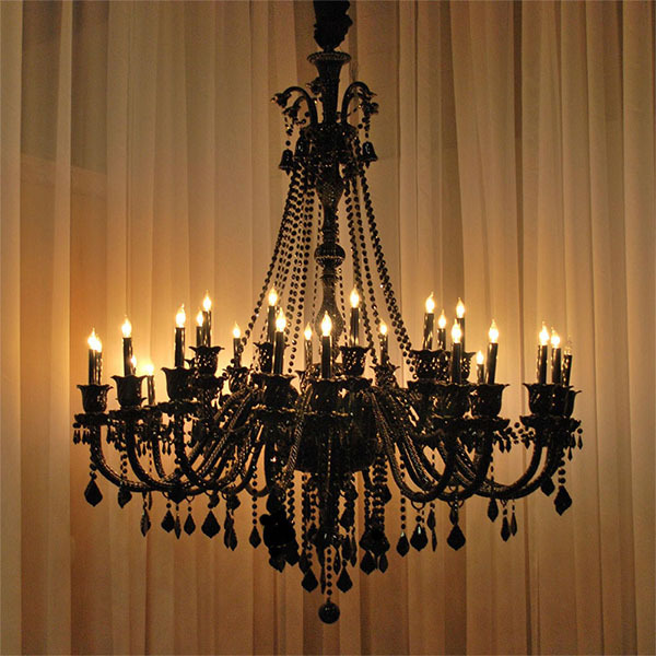 Black Crystal Chandelier Pendant Lamp For Hotel Hall Product On Alibaba