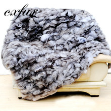 CX-D-127 Natural 122*183Cm Silver Fox Feather Winter Coat Real Fur Plate