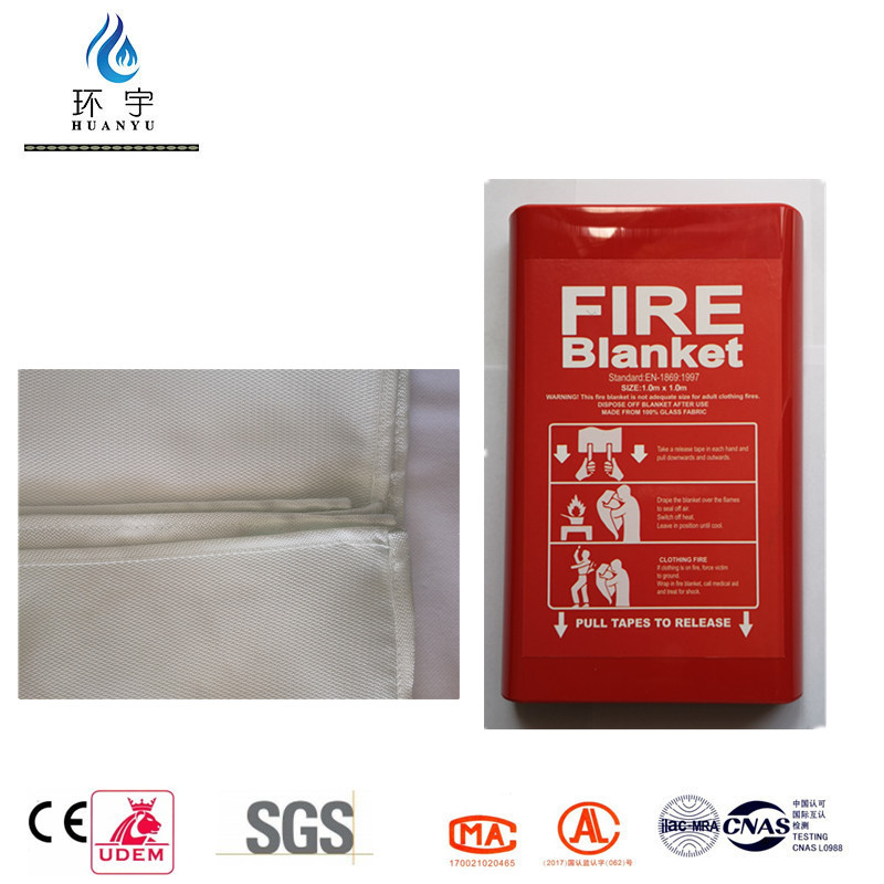 1m*1m Hot Sale Rigid Box Fire Blanket By Factory