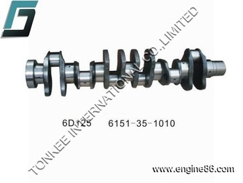 excavator engine part 6151-35-1010 6D125 crankshaft ,engine crankshaft 6D125