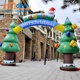 Mall Opening 4m Christmas Inflatable Trees Arch