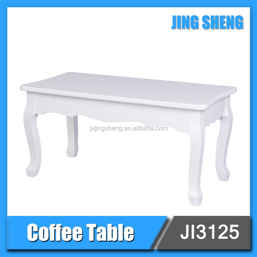High quality french country living room furniture modern MDF wooden white coffee table