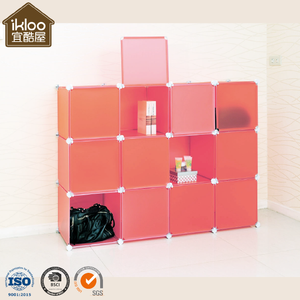 Home Storage Plastic Cube Craft design DIY bedroom storage wardrobe