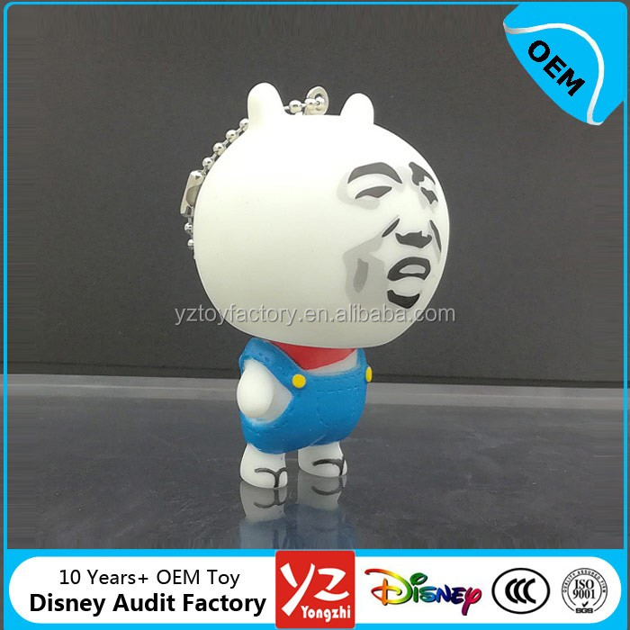 customized hot selling popular cute vinyl keychain toy,cute vinyl emoji toy keychain