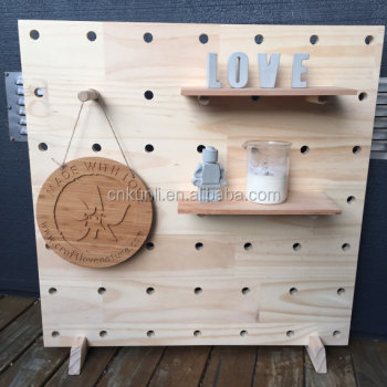 On Sale Beautiful Decorative Co-friendly Wooden Peg Board With Large ...