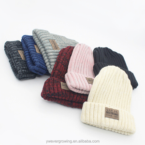 Custom plain winter bonnet hats crochet cheap knitted wholesale beanie hat