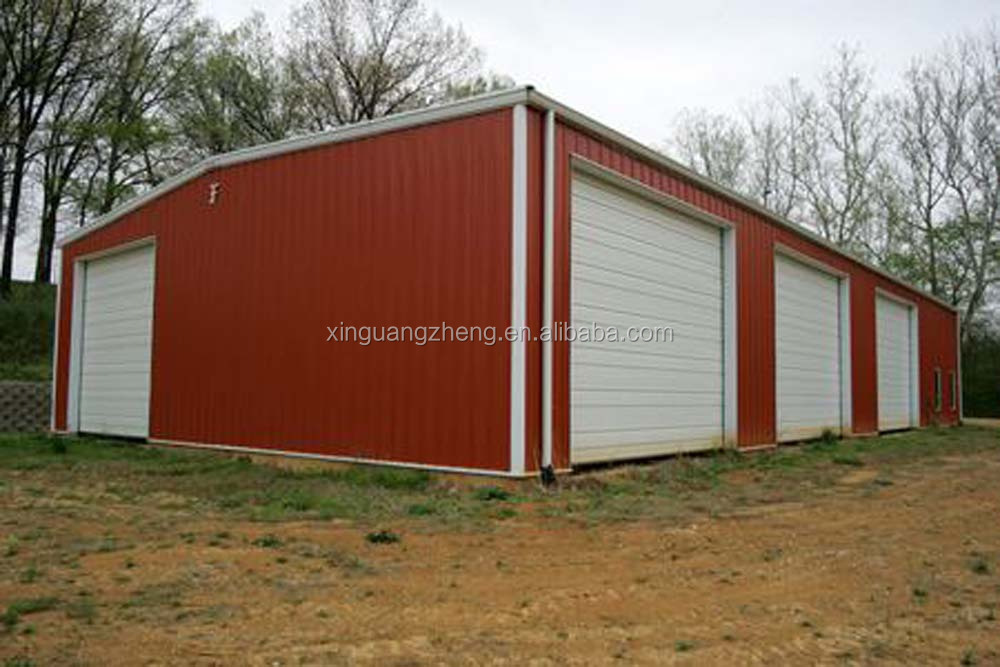 Light steel construction prefab metal workshops for sale