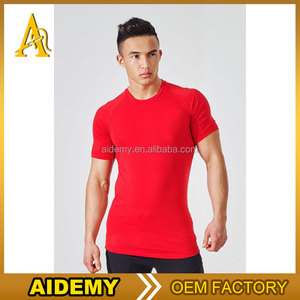 Dongguan appreal 95%cotton 5%spandex dri fit o neck plain dyed men t shirt sport wear