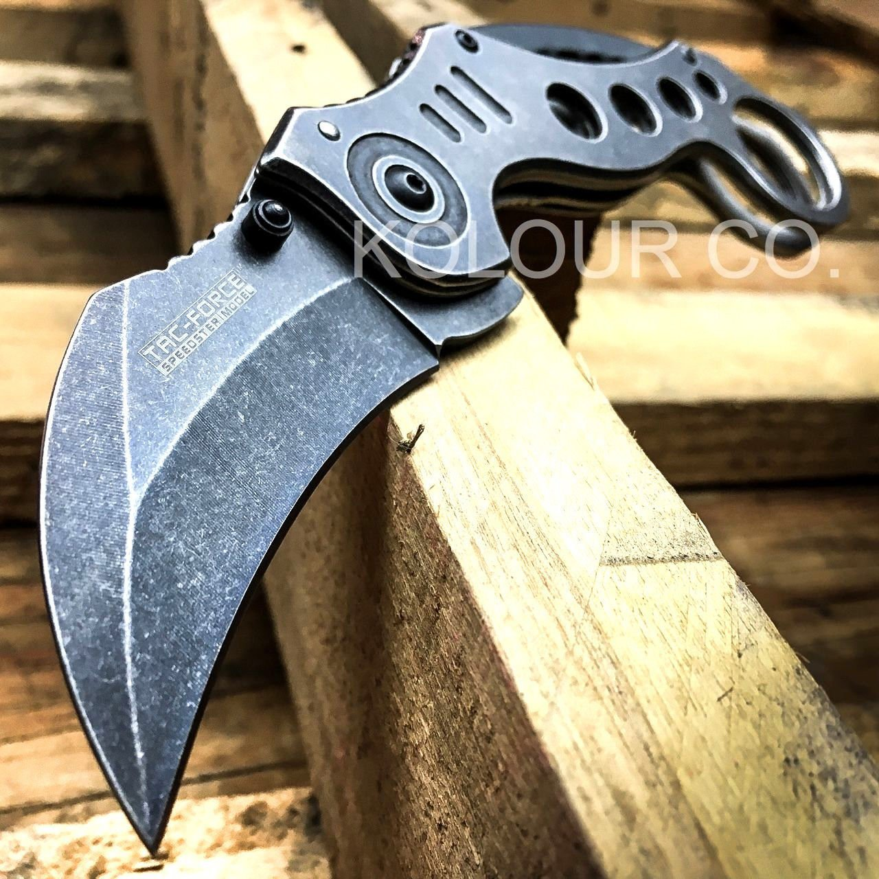 "8"" Spring Assisted G'Store Open Folding Pocket Knife Karambit Claw Combat Tactical"