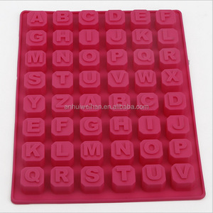 high quality FDA grade 26 cavity letters shape silicone cake mold
