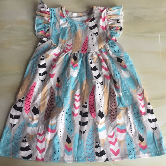 WY 653 Cute Girl Dresses In Stock Kids Frocks Online 1 Year Old Birthday Dress