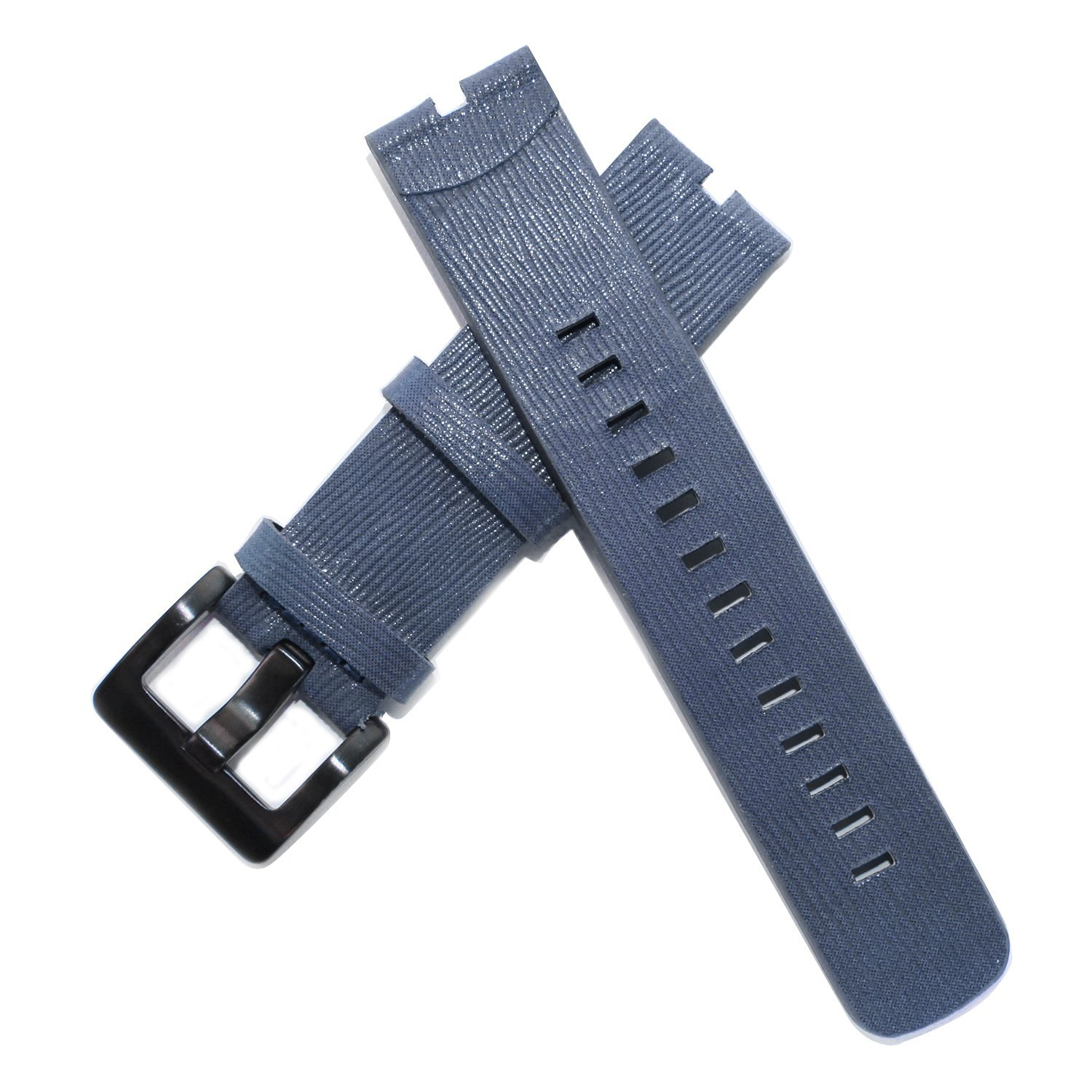Fitian New Replacement Leather Watch Strap Band for Moto 360 Smart Watch Motorola Wristband with Free Screen Protector (Dark Blue Leather Strap)