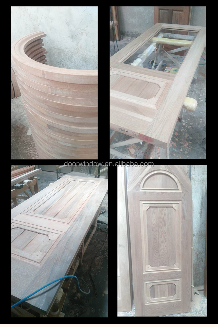 China cheap arched exterior double wood door