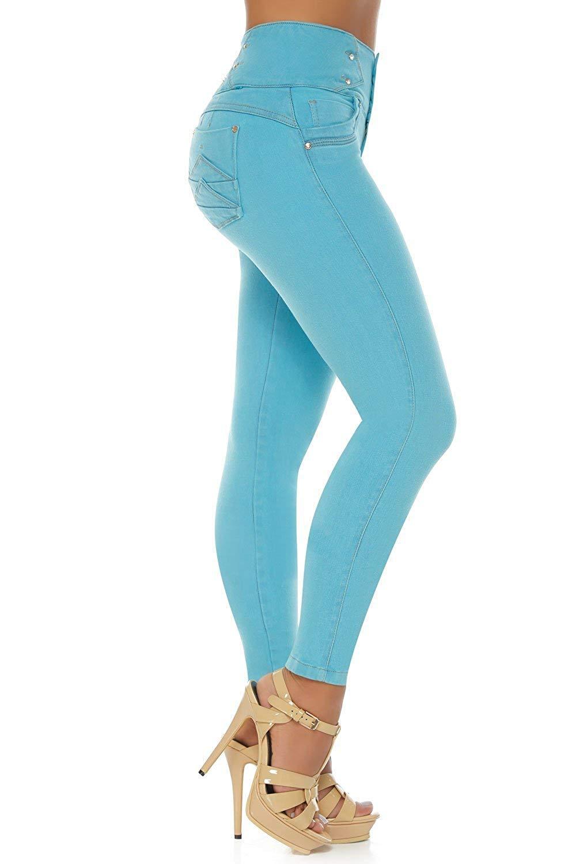 7c66abcf44 Get Quotations · VEROX JEANS Pantalones Colombianos Levanta Cola Colombian  Jeans Levantacola 3209