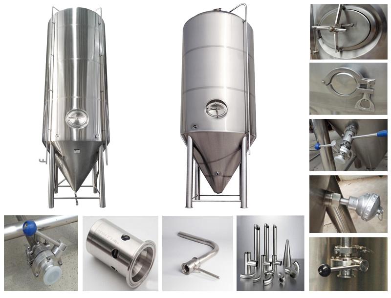 30bbl 40bbl 50bbl 60bbl 80bbl 90bb 100bbl 120bbl 150bbl 200bbl Beer Fermentation tank Conical Fermenter Unitank