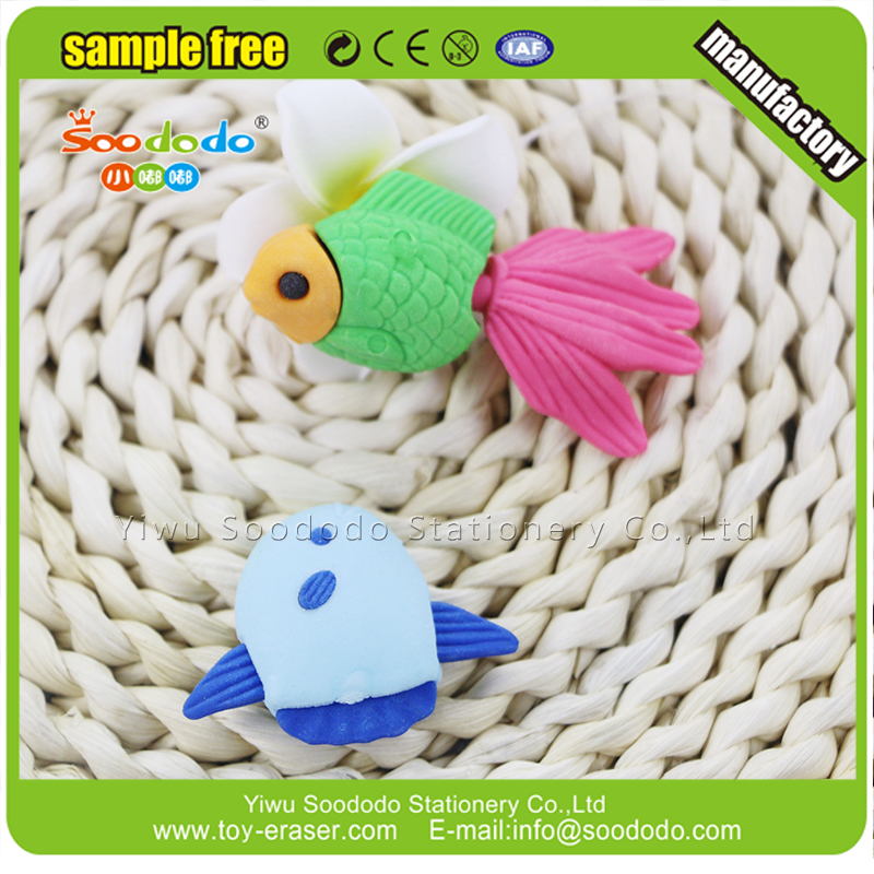 3D Stationery Fish Toy Eraser Rubber